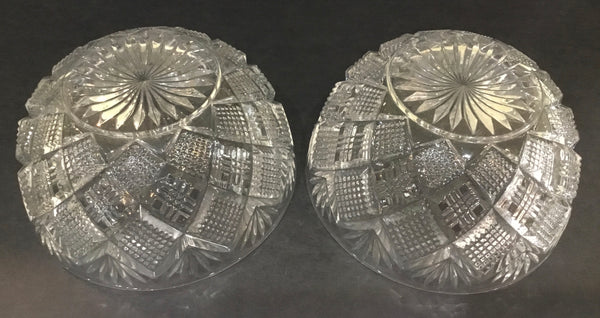 SET OF (2) VINTAGE CUT GLASS NUT BOWLS