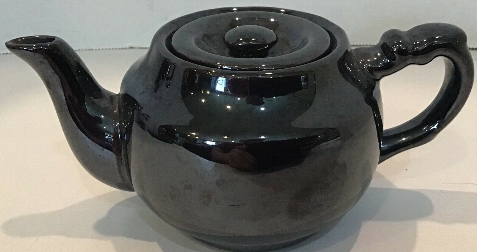 IRIDESCENT BROWN TEA POT WITH LID POSSIBLY HADSON? (OCCUPIED JAPAN) Ceramic