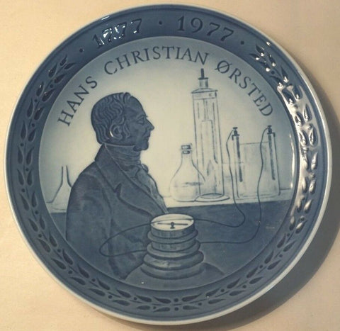 1777-1977 ROYAL COPENHAGEN DENMARK COLLECTORS PLATE HANS CHRISTIAN ORSTED 7""