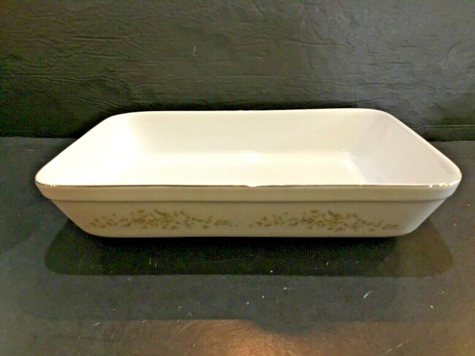 "CROWN VICTORIA CHINA CAROLYN 12-3/8"" RECTANGULAR BAKER"