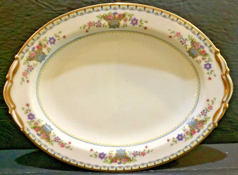 "B & CO. FRANCE BERNARDAUD LIMOGES FLEURETTE 11.5"" OVAL PLATTER"