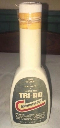 CRUISEMASTER TRI-AD GUM SOLVENT ANTI-ICER LUBRICANT 8oz BOTTLE (EMPTY)