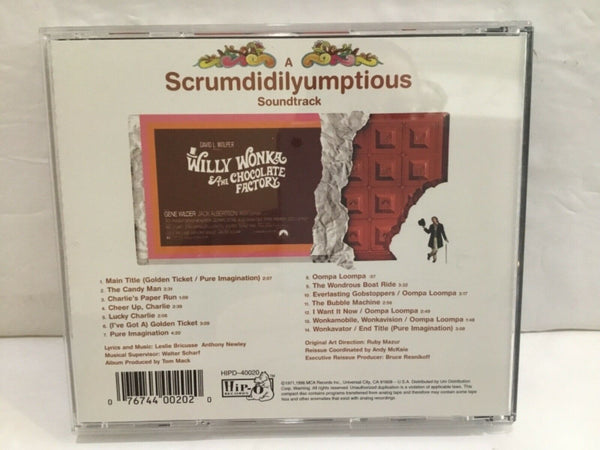 WILLY WONKA & THE CHOCOLATE FACTORY SPECIAL 25TH ANNIVERSARY EDITION CD