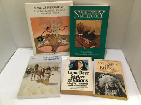 LOT OF (5) MISCELLANEOUS NATIVE AMERICAN BOOKS