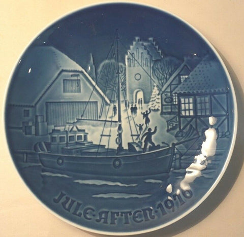 "1976 BING & GRONDAHL B&G CHRISTMAS PLATE JUL AFTER ""CHRISTMAS WELCOME"""