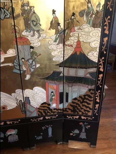 Large 6-Panel Chinoserie Chinese Dressing Screen Room Divider