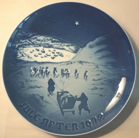 1972 BING & GRONDAHL B&G CHRISTMAS PLATE JUL AFTER CHRISTMAS IN GREENLAND