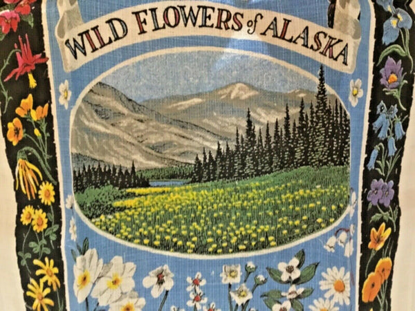 KAYDEE PURE LINEN TOWEL WILDFLOWERS OF ALASKA