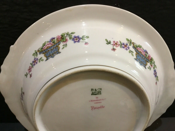 "B & CO. FRANCE BERNARDAUD LIMOGES FLEURETTE 10"" ROUND SERVING BOWL"