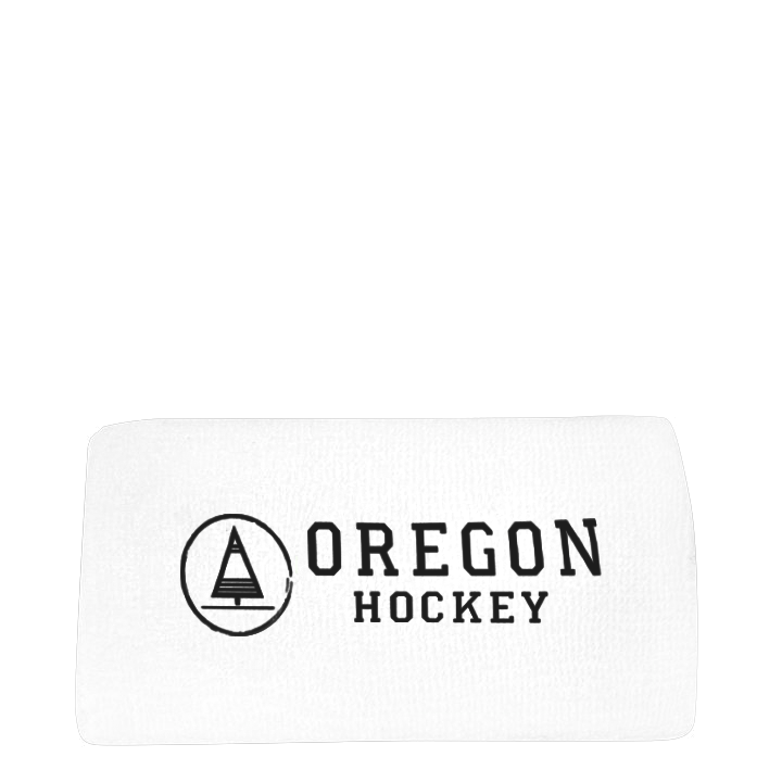 Wristband White - Oregon Hockey