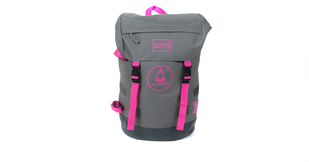 Backpack Senior Pink/Grey - Oregon Hockey