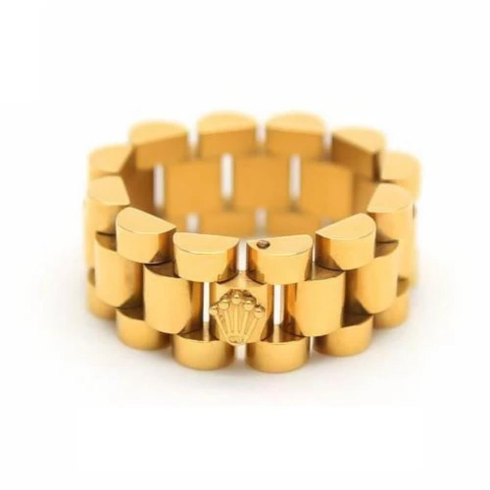 14k Gold Watch Band Link Ring - Kryzeus