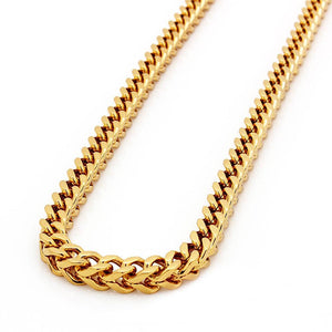 6mm Yellow Gold Franco Chain 22 Inch - Kryzeus