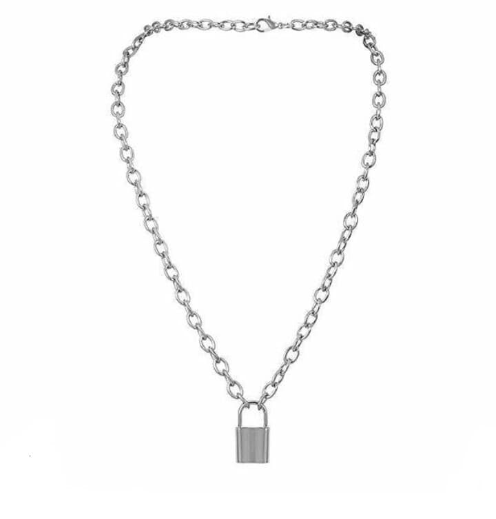 Classic Stainless Steel Lock Chain Necklace - Kryzeus