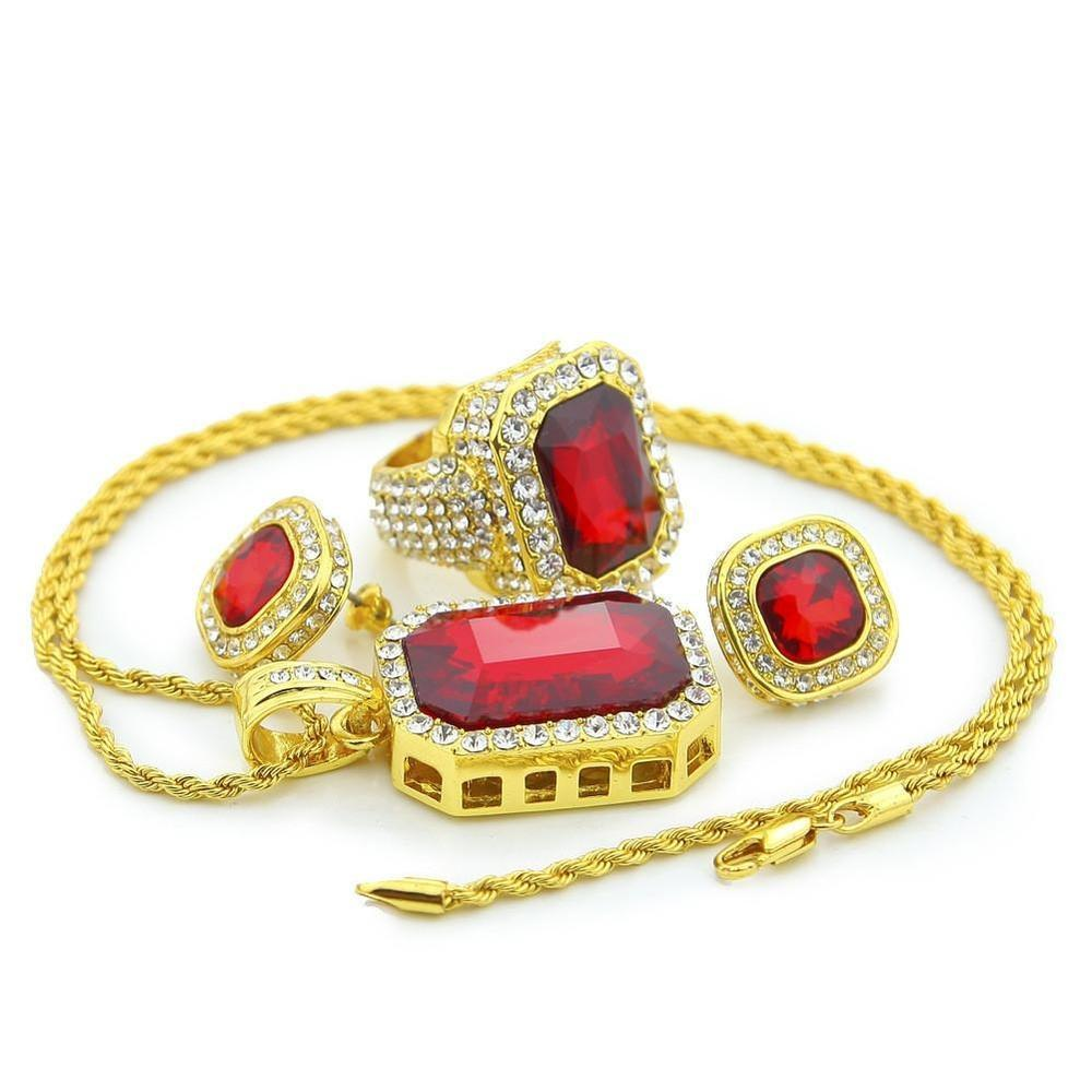 EXCLUSIVE 14k Gold Ruby Jewelry Box Set - Kryzeus