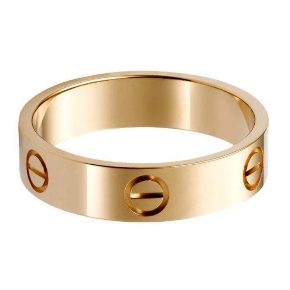 18k Gold Titanium Classic Screw Head Ring - Kryzeus