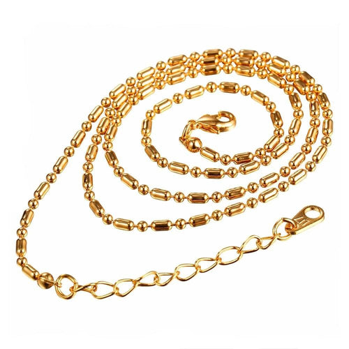 2mm 18k Gold Stainless Steel Chain - Kryzeus