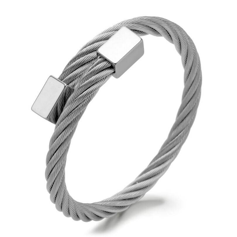 Titanium Twisted Cable-Wire Bracelet - Kryzeus