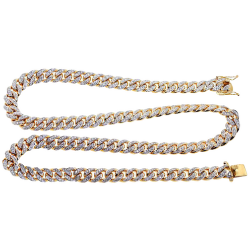 Iced Out Cuban Link Diamond Chain - Kryzeus