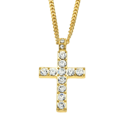 14k Diamond Cross Necklace - Kryzeus