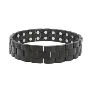 Magnetic Health Stainless Steel Matt Black Bracelet - Kryzeus