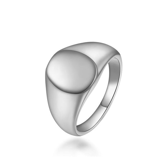 Classic Pinky Signet Stainless Steel Ring - Kryzeus