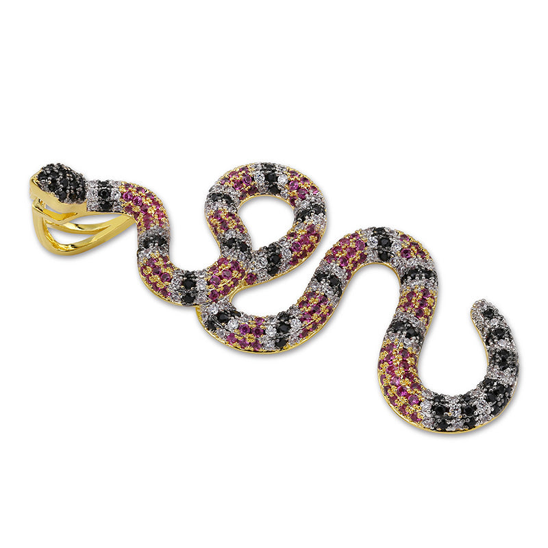Iced Out Coral Snake Necklace - Kryzeus