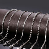 2mm Stainless Steel Thin Chain - Kryzeus