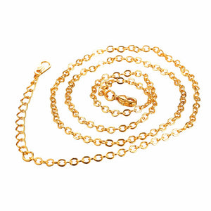 3mm 18k Gold Stainless Steel Basic Chain - Kryzeus