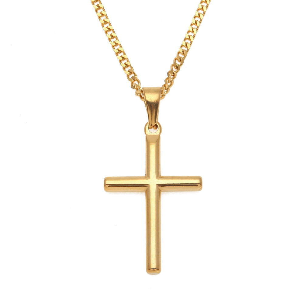 Small Crucifix Pendant Necklace - Kryzeus