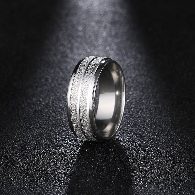 Color Scrub Titanium Steel Ring - Kryzeus