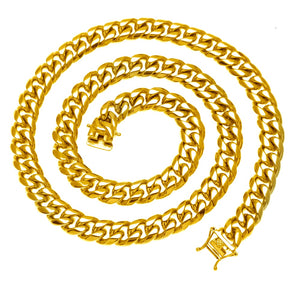8mm-14mm Stainless Steel Curb Cuban Link Chain - Kryzeus