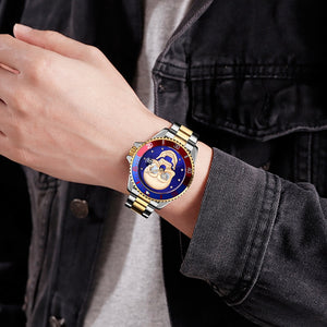 KRYZEUS BLACKXBLACK SKULL QUARTZ WATCH - Kryzeus
