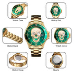 Kryzeus BlackxGreen Skull Quartz Watch - Kryzeus