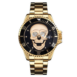 Kryzeus GoldxBlack Skull Quartz Watch - Kryzeus