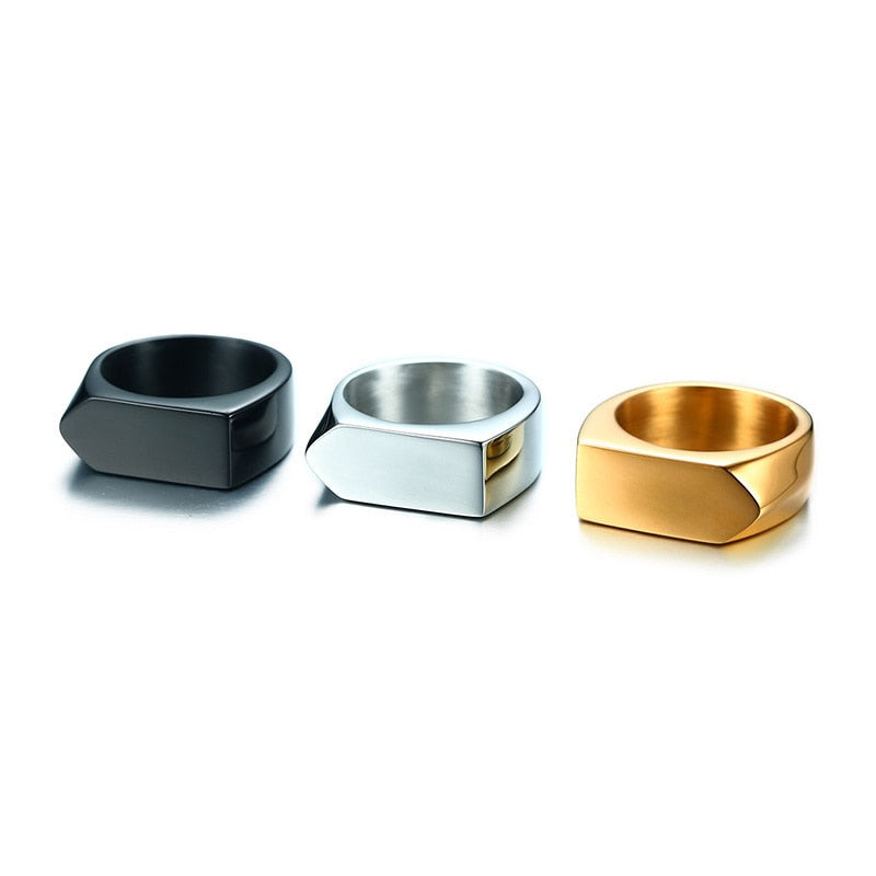 Classic Flat-Top Stainless Steel Ring - Kryzeus