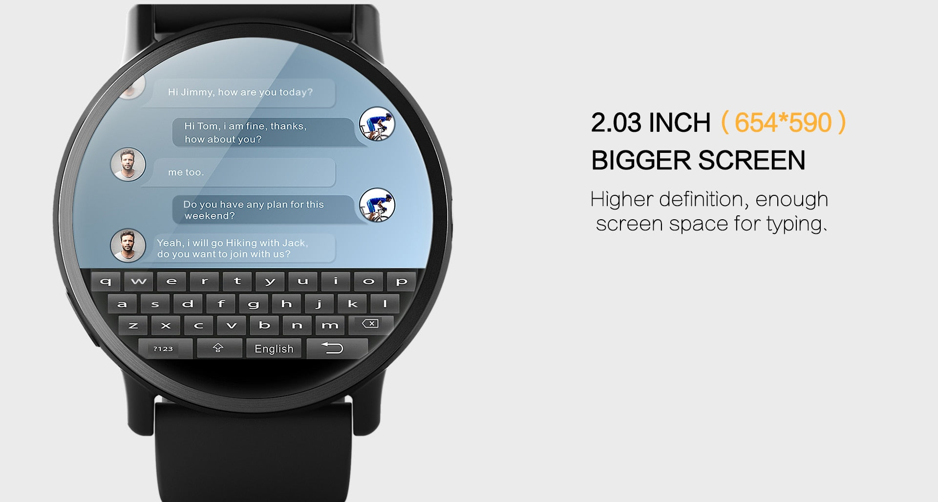 "2.03"" 4G WIFI Android 7.1 Smart Watch - Kryzeus"