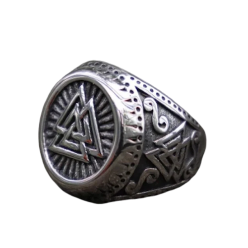 Valknut Norse Style Stainless Steel Ring - Kryzeus