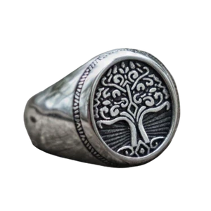 316L Stainless Steel Tree of Life Signet Ring - Kryzeus
