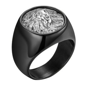 316L Stainless Steel Lion Head Ring - Kryzeus