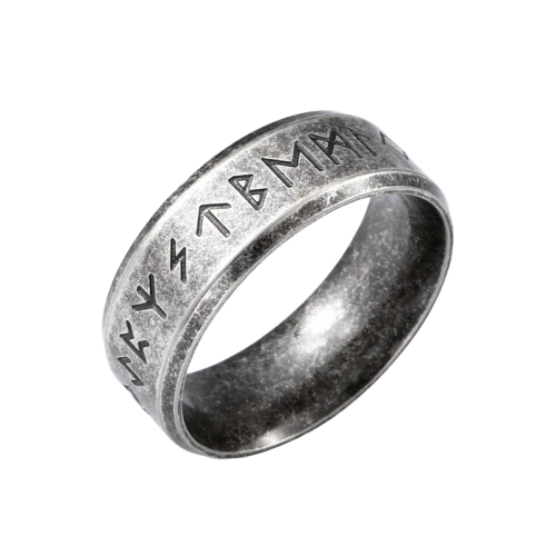 316L Stainless Steel Viking Rune Ring - Kryzeus
