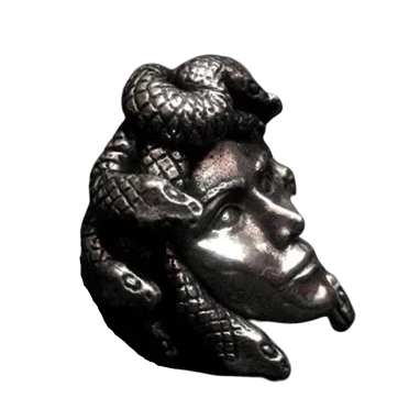 Gorgon Medusa 316L Stainless Steel Ring - Kryzeus