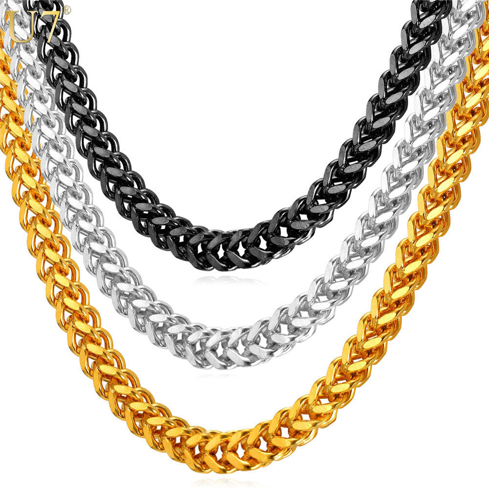 "18""- 28"" Dookie Rope Stainless Steel Chain Necklace - Kryzeus"