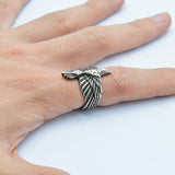 Raven Talisman Eagle Stainless Steel Ring - Kryzeus