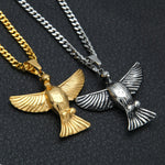 Vintage Eagle Pendant With Chain - Kryzeus