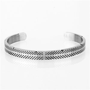 Open Titanium Stainless Steel Bangle - Kryzeus