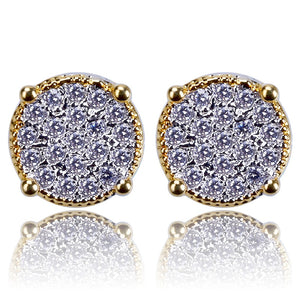 Iced Out CZ Stone Stud Earrings - Kryzeus