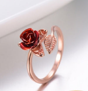 4mm Rose Stainless Steel Ring - Kryzeus