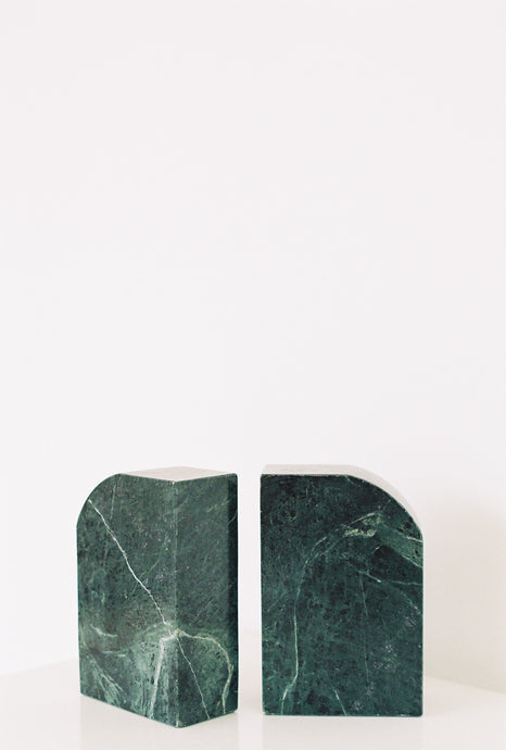 S/2 Dark Green Granite Bookends