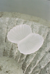 Milky White Glass Shell Dish